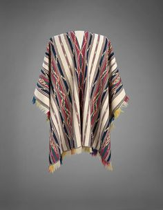 PONCHO Aymara Indian - Bolivia 17th - 18th Centuries Cotton Warp: 70 in. | Weft: 52 in. | William Siegal Gallery