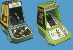 Vintage Early 80s Official Pac-Man and Frogger Tabletop Arcade Games