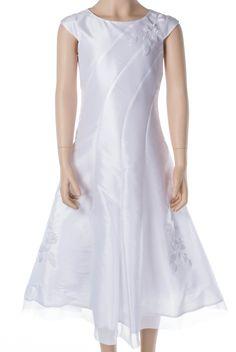 Kommunionkleid - klassisch - weiß - mit Bolero und Tasche Schöne Kombination für Kommunion-Mädchen von Weise Im Set: Kleid, Bole...