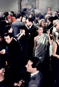Holly Golightly's party in Breakfast at Tiffany's