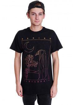 Asking Alexandria - The Black Shade - T-Shirt - Official Screamo Merchandise Shop - Impericon.com UK