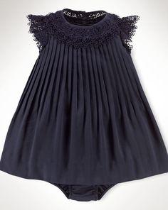 Lace-Yoke Pleated Dress - Infant Girls Dresses & Skirts - RalphLauren.com