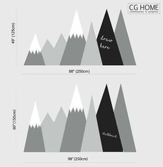 Entire Wall Protection MOUNTAIN Chalkboard Covering Wall Decal