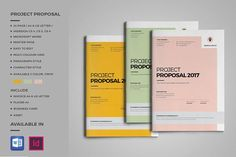 Project Proposal  by inthesign on @creativemarket #ProposalTemplate #design #stationery
