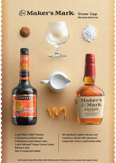 Add a delicious kick to the holidays with this #sweet and #creamy concoction that features orange overtones and a wonderfully smooth finish.  Snow Cap #Cocktail