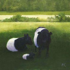 """""""Three Belts"""", Aldemere Farm, Camden, Maine   Oil on Canvas, 2010, by Heather Karp"""