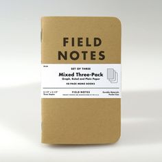 Field Notes Brand: Kraft Mixed Paper Memo Books, 3 Pack #MarthaStewartAmericanMade #americanmadeebaysweeps