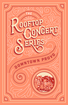 These posters were hand lettered illustrated and designed by Hayley Barry of Type Affiliated for the 2019 Provo Rooftop Concert Series. Each one was created digitally and then printed. Types Of Lettering, Lettering Design, Branding Design, Logo Design, Graphic Design, Lettering Styles, Vintage Fonts, Vintage Typography, Vintage Labels