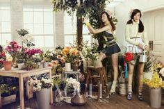 """Oh! Miss Flower"": Jung Ji-yuon and Lee Hyun-yi by Bo-Lee for Vogue Korea"