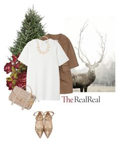"""""""Holiday Sparkle With The RealReal: Contest Entry"""" by rosa-loves-skittles ❤ liked on Polyvore featuring STELLA McCARTNEY, Monki, Forever 21, Valentino, Proenza Schouler and Louis Vuitton"""