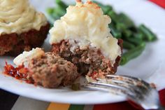 Mama's Meatloaf Cupcakes by backtoherroots: How cute is that! #Meatloaf_Cupcakes #backtoherroots