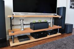 Rustic Industrial Reclaimed Wood Style, TV Stand, TV Console, Media Console, Entertainment Center, Handmade, Custom Console,