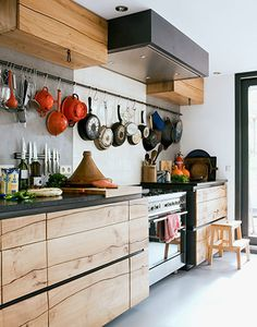 nice kitchen with wood veined cabinets