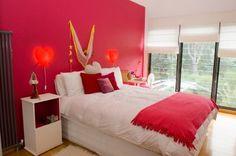 dormitorios con paredes rojas y blancas - Buscar con Google