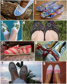 inspiration and realisation: DIY Fashion + Home: 8 of my favorite canvas shoes DIY