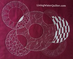 Quilting Circles - Ruler WorkI am having so MUCH FUN with the Circles on Quilts templates by Westalee Design by Sew Steady. There are so many possibilities. Two Circle on Quilts sets include four...