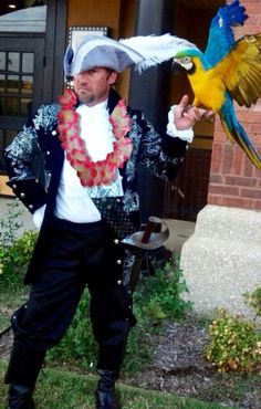 """46/"""" Inflatable Parrot Hawaiian Pirate Jungle Beach Party Costume Accessories"""