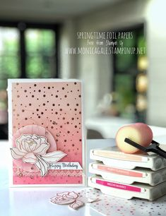 Stampin' Up UK Demonstrator Monica Gale, helps you unleash your creative side. Join me for inspiring projects and request a FREE catalogue Special Birthday Cards, Happy Birthday Cards, Foil Paper, Paper Cards, Vanilla Lace, Stamping Up Cards, Rubber Stamping, Flower Cards, Tutorial