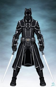Superhero Suits, Superhero Characters, Superhero Design, Fantasy Armor, Dark Fantasy Art, Star Wars Jedi, Star Wars Art, Black Anime Characters, Fantasy Characters
