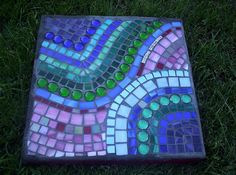 Whimsy #steppingstone              #garden #mosaic