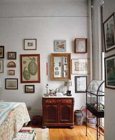 APARTMENT 4 Writer Jeffrey Simpson's bedroom, with its family mementos.