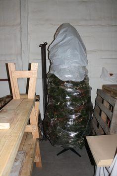 Saran wrap the Christmas Tree for Storage.