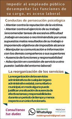 Mobbing Madrid PRIDICAM: Impedir al empleado público desempeñar las funcion...
