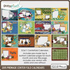 2015 8.5 x 11 PreMade Centerfold Calendars :: Calendars :: Projects ...