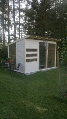 DIY greenhouse production. Finnish A.Aalto self influenced style.