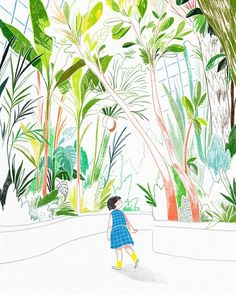 S playground: grafolio illustrations. Garden Drawing, Tree Artwork, Sketchbook Inspiration, Love Painting, Cute Illustration, Art Inspo, Cool Art, Art Drawings, Instagram