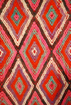 Vintage Moroccan carpet detail