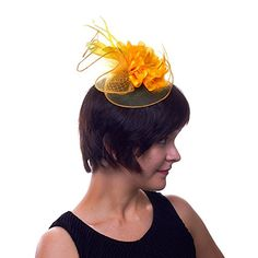 Pina Colada Pretty Fascinator Hat for Ladies (Yellow) Greatlookz http://www.amazon.com/dp/B00MCVSPNY/ref=cm_sw_r_pi_dp_fyvFub161CWAK