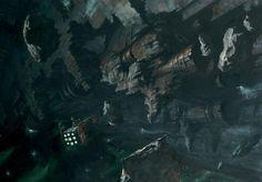 An Imperium ship discovers a space hulk.