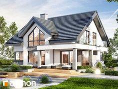 Dom w telimach (G) Small House Interior Design, Bungalow House Design, Beautiful House Plans, Modern House Plans, Architect Design House, House Extension Design, My Ideal Home, Cottage Plan, Cottage Exterior