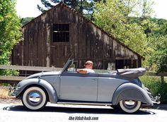 Frank Espinoza, from Westminster, California, U.S.A. His 1955 Delphine Grey Two-Tone finish VW Convertible, L320 & L321, VolksWorld featured car of April 2012 Issue.