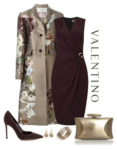"""Valentino Kimono Jacquard Coat Look"" by romaboots-1 ❤ liked on Polyvore featuring Valentino, Phase Eight, Alexis Bittar and Treesje"