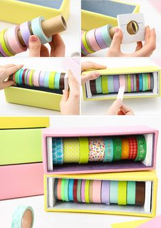 always looking for ways to store my washi tape