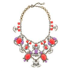 My new favourite colour combination! J.Crew crystal color stone statement necklace