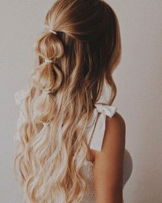 Haarstyling - New Sites Pretty Hairstyles, Hairstyle Ideas, Ponytail Hairstyles, Wedding Hairstyles, Boho Hairstyles Medium, Summer Hairstyles, Hairdos, Instagram Hairstyles, Homecoming Hairstyles Down