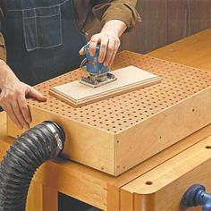 WOODWORKING JIGS Very creative uses of Pegboard. I especially like the shelf pin jig for locating and drilling holes. Just attach a cleat to one side of a small piece of pegboard and you have an instant drilling guide for shelf pins. Woodworking Lamp, Unique Woodworking, Woodworking Workshop, Woodworking Crafts, Youtube Woodworking, Woodworking Apron, Woodworking Garage, Grizzly Woodworking, Woodworking Jigsaw