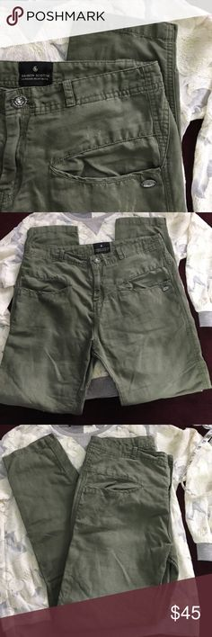 """Maison Scotch cotton/linen pants- size 26 Awesome pants for summer! Relaxed fit, deep pocket, cotton/linen blend pants. Size 26. 16.5"""" across waist, 10"""" rise, 27"""" inseam. Sadly these didn't fit me how I wanted them to. My loss is your gain! Maison Scotch Pants"""