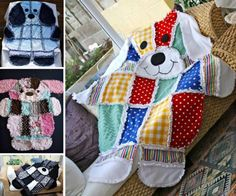 Patchwork Puppy Rag Quilt - find rag quilt tutorial on our site.