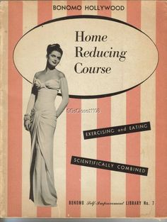 Vintage Joe Bonomo Hollywood Home Reducing Course Book 1947 Diet Exercise | eBay