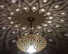 Pendant Light Moroccan Brass Chandelier, Ball Brass Pendant Light For Home and Bar Light Decor Moroccan Chandelier, Moroccan Pendant Light, Moroccan Lighting, Moroccan Lamp, Brass Pendant Light, Moroccan Lanterns, Brass Chandelier, Pendant Lights, Moroccan Bedroom