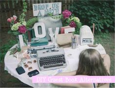 Creative DIY Guest Book Alternatives · link is broken but I love this On Your Wedding Day, Diy Wedding, Wedding Venues, Wedding Ideas, Wedding Stuff, Wedding Flowers, Diy Photo Booth, Wedding Honeymoons, Wedding Guest Book Alternatives
