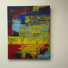 Gerhard Richter inspired abstract piece by Deep South Vintage of Fairmont, WV. Sold!