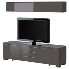 $349 BESTÅ BURS TV storage combination - high gloss gray - IKEA