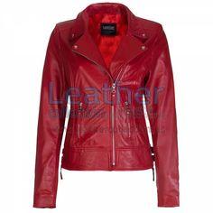 Red Vintage Biker Leather Jacket - https://www.leathercollection.us/en-we/red-vintage-biker-leather-jacket.html red vintage jacket, vintage biker leather jacket #RedVintageJacket, #VintageBikerLeatherJacket