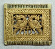 A decorative comb from the Kandy period, made, most likely of horn. Columbo Museum in Sri Lanka.