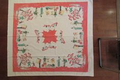 Vintage Tablecloth Cutter Depictive Retro Lemonade by rarefinds4u